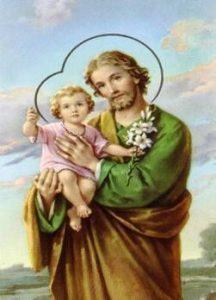 St. Jospeh holding Jesus